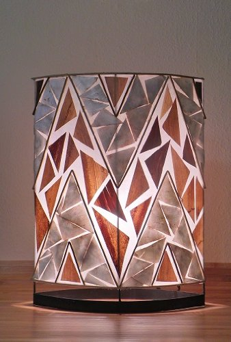 Asiatische Modell KAPAL Deko- und Tischleuchte echte Handarbeit aus Natürlichen Materialien - Asiatische Tischleuchte