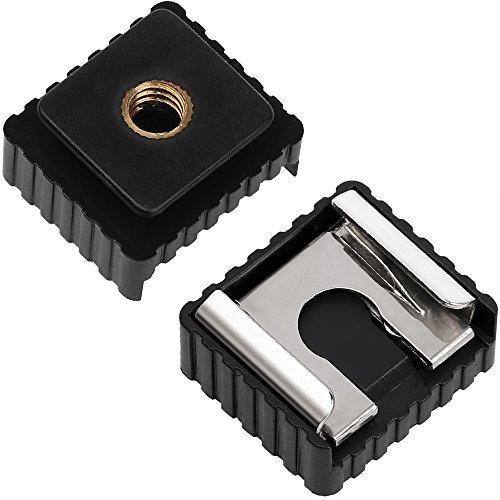 "Kamera Blitzschuh auf 1/4""-20 Stativ Schraube Adapter, Blitzschuh Halterung für DSLR Kamera Rig (2 Stück)"