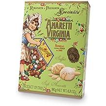 Amaretti Virginia - Amaretti di Sassello Tierna con Almendras en una Caja Vintage de 180gr