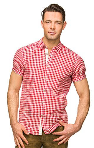 Stockerpoint Trachtenhemd Connor Rot, M