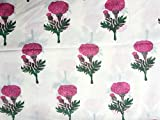 #7: hand block printed cotton fabric printed hand printed Summer Dress fabric 5 meter