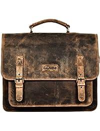 Genuine Leather Men's Messenger Bag – Men's Portfolio Bag – Men's Leather Shoulder Bag-Leather Office Bag-Leather... - B07CN7QKVQ