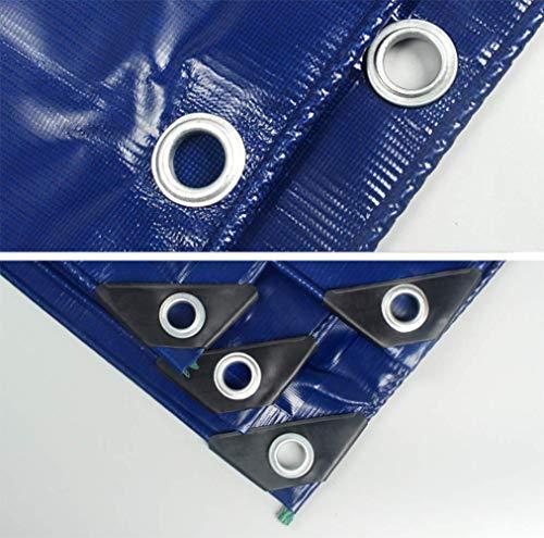 Zotee teli telone occhiellato telone impermeabile per esterni, ideale per tettuccio in tela cerata, barca, camper o copertura per piscina,blue_3x3m