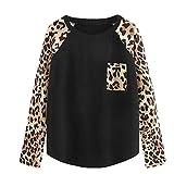 Damen Blusen, Langarm Sweatshirt Loose Langarm T-Shirt Mode Streifen Shirt Draußen Outwear zum zelten von ABsoar