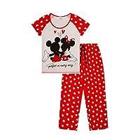 ThePyjamaFactory Disney Minnie and Mickey Mouse Perfect in everyway Long Ladies Pyjamas