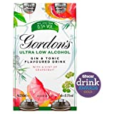 Gordon's Ultra Low Alcohol Gin and Tonic with a Hint of Grapefruit 4 x 250ml Bottle