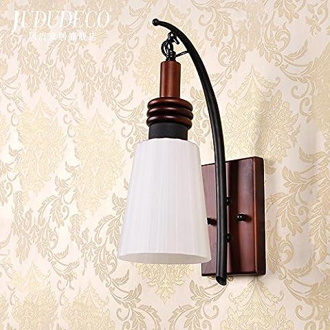 GaoHX Light Terrazza Continentale Tinta Legno Lampada