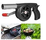 FireAngels - Ventilatore manuale per barbecue, ideale per campeggio e picnic all'aperto