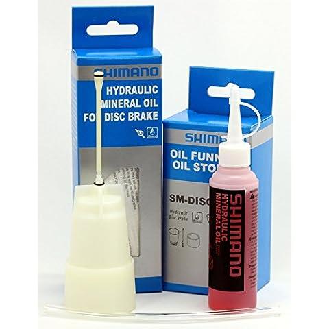 Shimano - Kit de herramientas para purgar sistema de freno, con aceite mineral Shimano de 50 ml