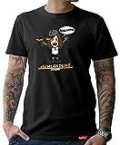 HARIZ  Pixbros Collection Herren T-Shirt Schwarz Designs Wählbar Deutschland Trikot Weltmeisterschaft Urkunde Bang Sticks Pixbros08: Schlandline L