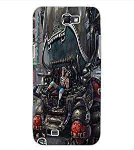 ColourCraft Printed Design Back Case Cover for SAMSUNG GALAXY NOTE 2 N7100
