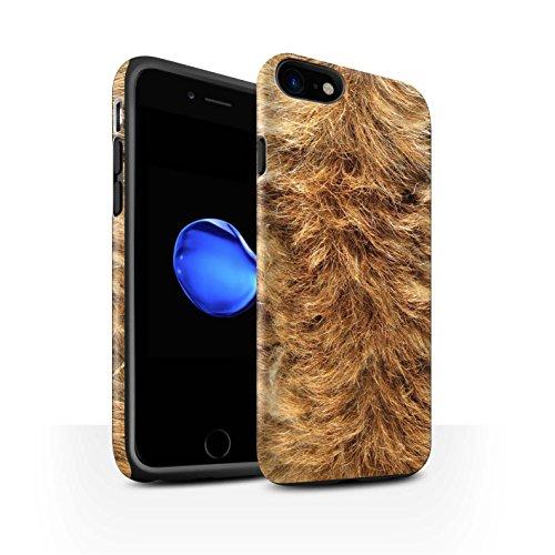Coque Matte Robuste Antichoc de STUFF4 / Coque pour Apple iPhone 8 Plus / Zèbre Design / Motif Fourrure Animale Collection Chien