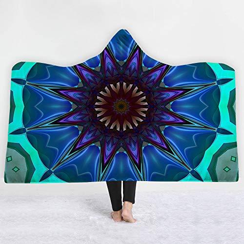 Lolyze Kids 3D Digital Geometría Kaleidoscope con Capucha Manta Invierno Impreso cálido...