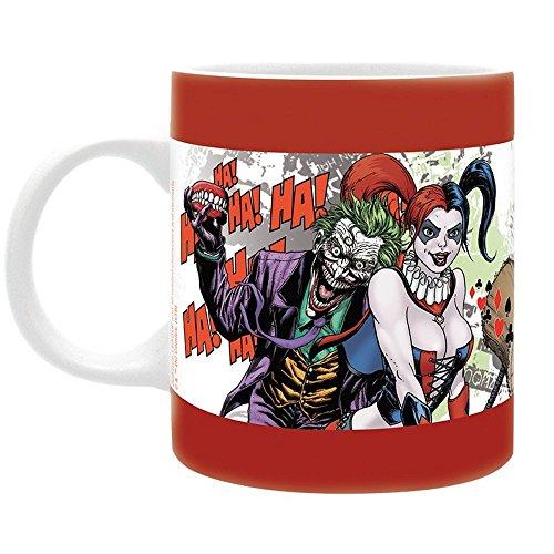 Squad - Keramik Tasse - Harley Quinn & Joker - Forever Evil - Geschenkbox (Batman Forever Kostüm)