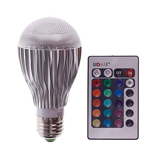 econoled 10W LED Magic Lampe Licht Glühbirne, Farbe Verändernde RGB Strahler mit Fernbedienung -