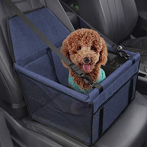 IvyLife Auto-Hundesitz für Kleine Hunde oder Katzen Transporttasche verstellbar aus Oxford-Stoff Wasserdicht Atmungsaktiv Haustier Sicherheit Auto Sitz Doppelt Schicht Verdickt Haustier (Blau)