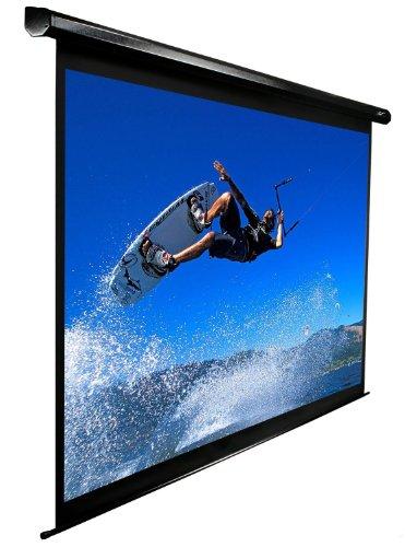 Elite Screens VMAX135UWH2-E24 VMAX2 Series Leinwand (Diagonal 342,9 cm (135 Zoll), Höhe 168,1 cm (66,2 Zoll), Breite 299 cm (117,7 Zoll), Format 16:9) schwarz Vmax-serie