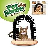 Petsense Cat Kitten Massaging Scratching Scratcher Pet Arch Self Grooming Groomer Soft Comfortable Bristles Scratching Play Nip Animal Luxury Cute - INCLUDES FREE CAT NIP