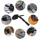 CHANGLIN-Pala plegable multifuncional con Bolsa de Almacenamiento, Pala portátil de Supervivencia de Herramienta de Emergencia para Camping/Senderismo/Jardinería