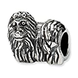 Reflection Sterling Silber Yorkshire Terrier Hund Charm Bead