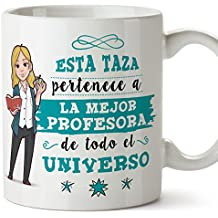 MUGFFINS Taza Profesora/Mug - La Mejor Profesora del Universo - Regalos Originales para profesoras
