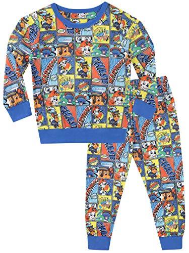 Paw Patrol Pijamas de Manga Larga para niños Chase y Marshall 3-4 Años