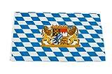 Original Handycop® Flagge Fahne F91034 Bayern Landesflagge mit großem Staatswappen 90 x 150 cm - wetterfeste Qualität