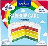 Bakedin Rainbow Cake Baking Kit, 1000g - Include miscele colorate per torte, 4 teglie, carta da forno, spruzzi, tagliere per dolci - Tutti gli ingredienti naturali