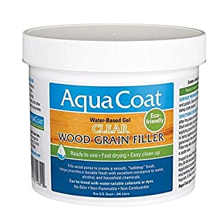 Aqua Coat Clear Wood Grain Filler Qt by Aqua Coat
