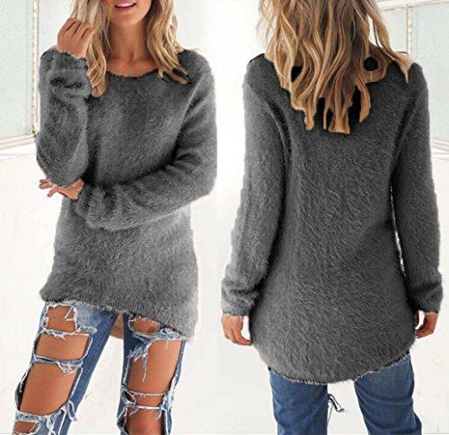 u-shot donna invernale a maniche lunghe Loose casual jumper tops camicetta Grey