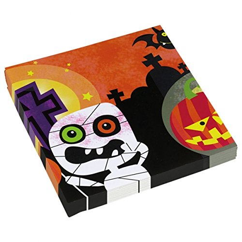 amscan International 998387Freundlicher Mummy Serviette, (Spinne Kostüm Gesicht Malen)