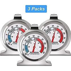 Thermomètre Réfrigérateur Congélateur Thermomètre à Large Cadran Série Classique Thermomètre de Température pour Congélateur Réfrigérateur Refroidisseur (3)