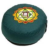 Natur-Eco Meditationskissen 4. Chakra Bestickt 33x17 cm