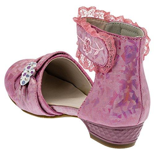 Ballarina chaussures pour fille avec cœurs Multicolore - #665 Lila