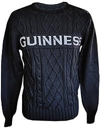 Guinness Official Merchandise Câble Cavalier Noir (S-XXL)
