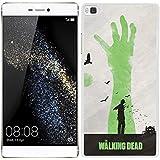 Funda carcasa para Huawei P8 Lite diseño the walking dead 2 borde blanco