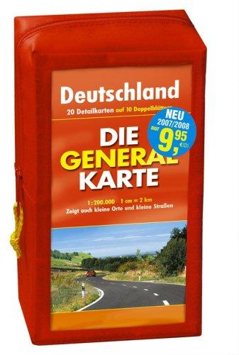Preisvergleich Produktbild Generalkarte Deutschland Pocket-Set. GPS-tauglich. (Maßstab: 1:200000): 10 Doppelkarten