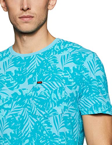 Best superdry bags in India 2020 Superdry Men's Printed Slim fit T-Shirt (M10114YT_Poolside Aqua_L) Image 4