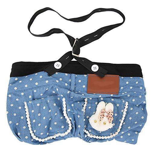 Mootea Haustier Kleidung Hund Katze Canva Hosen Jeans mit Strap Puppy Schöne Blaue Hosen - Einfache Kostüm Mit Jeans
