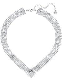 Swarovski Halskette 5289715 Fit V, weiß, palladiniert