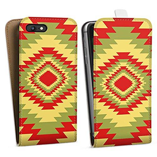 Apple iPhone X Silikon Hülle Case Schutzhülle Ethnostyle Indianer Muster Batik Style Downflip Tasche weiß