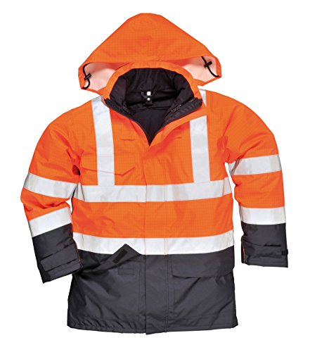 PORTWEST S779 - Bizflame Regen Warnschutz Multi-Norm Jacke, 1 Stück, XXL, orange, S779ONRXXL orange