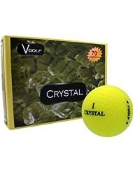 Crystal v-golf bolas 3pelota manga amarillo