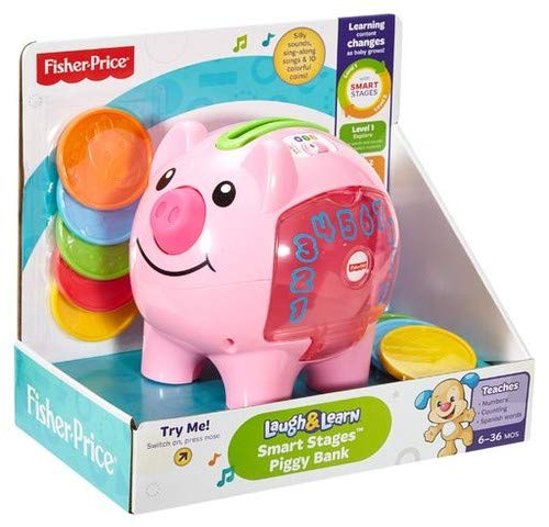 Fisher Price Laugh and Learn Smart Stages Piggy Bank by Laugh and Learn