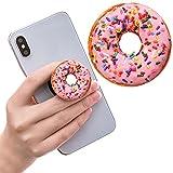 Ausziehbarer Sockel für Handy und Griff für Smartphones und Tablets - Donut Rosa