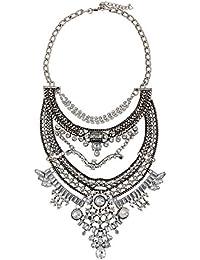 eb02289ad321 DELEY de las Mujeres de Bohemia Étnico Tribal Boho turco Clúster de Cristal  Collar de la Declaración del Collar…