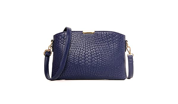 6e58c3f795615 HYP einfachen Damen Tasche Handtasche Tasche Schultertasche Messenger Bag  Geflochtene Textur geprägtes pu-lineare Rampe Paket Venusmuschel Paket