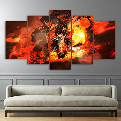 Painting & Calligraphy Canvas Pictures Home Decor Paintings 5 Panel Hatsune Miku Wall Art Animation Modern Prints Hd Poster Hotel Modular Living Room