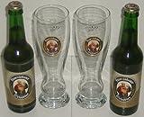 Franziskaner Weissbier Vielfalt mit 2x0,33 L Bierflasche Weissbier und 2 Stück Gläser 0,33l