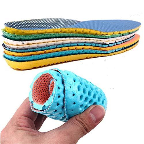 TVXSHK 1 Paar Sneaker Dicke Einlegesohle Fußpflege Fersensporn Laufsport Einlegesohlen Stoßdämpfungspolster Arch Orthopädische Einlegesohle 44 Royal Blue -